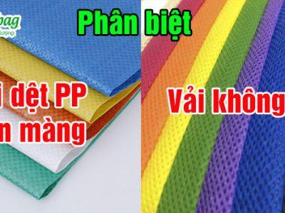 So sánh vải dệt PP cán màng và vải không dệt