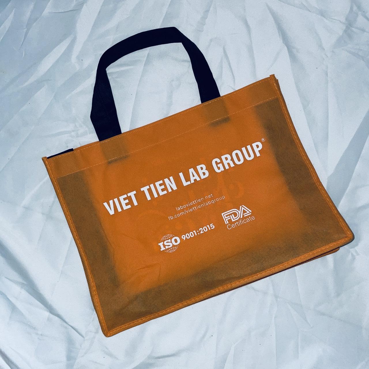 mẫu túi vải không dệt in logo Viet Tien LaB Group